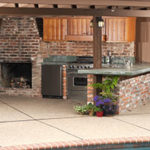 Remodeled outdoor kitchen