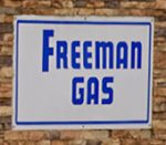Freeman Gas sign